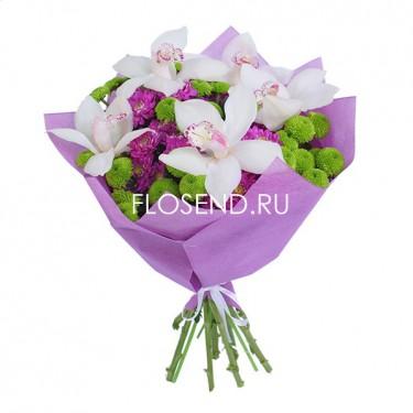 Букет из орхидей в капсулах